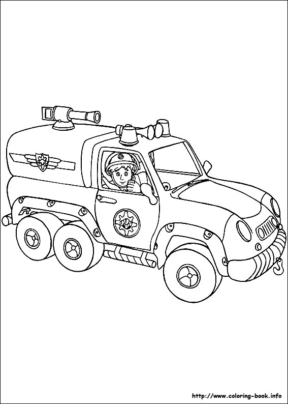 Fireman Sam coloring pages on Coloring-Book.info