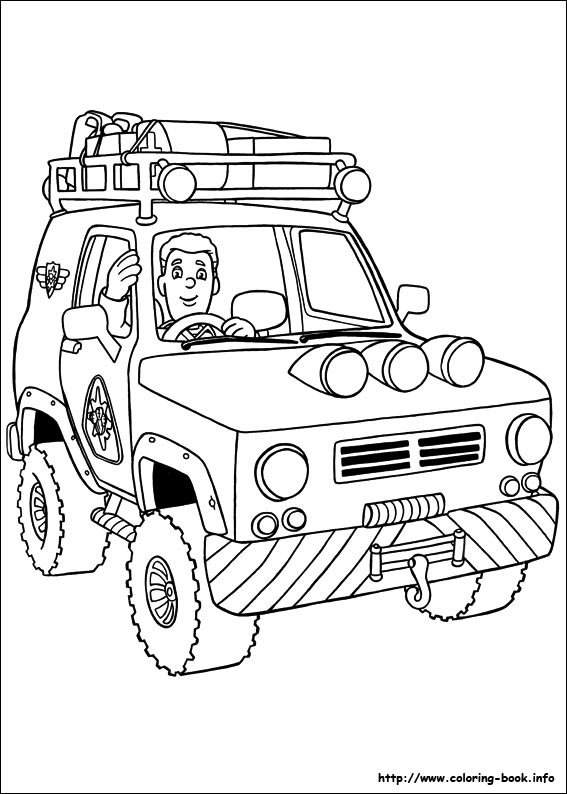 Fireman Sam Coloring Pages On Coloring Bookinfo - Fireman-sam-coloring-page