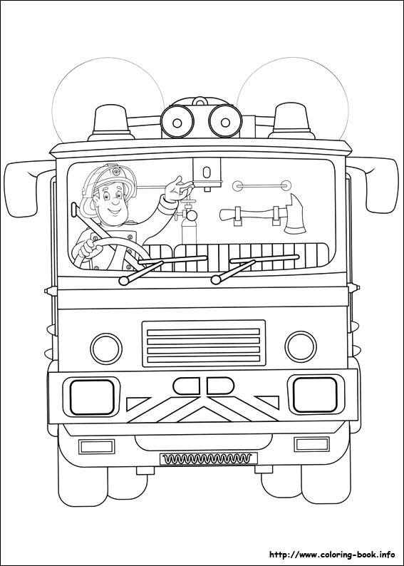 fireman sam coloring picture - Fireman Sam Pictures To Print