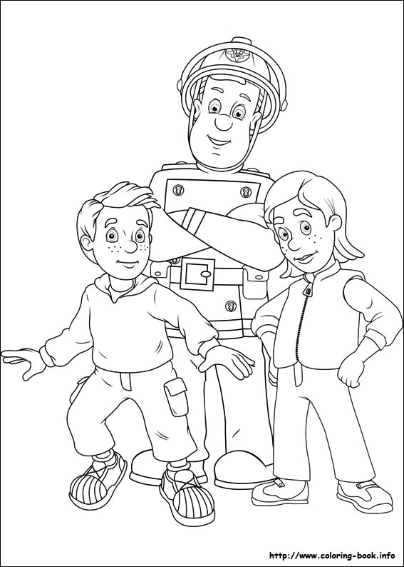 Fireman Sam Elvis Coloring Pages Coloring Pages Fireman Sam Colouring Page