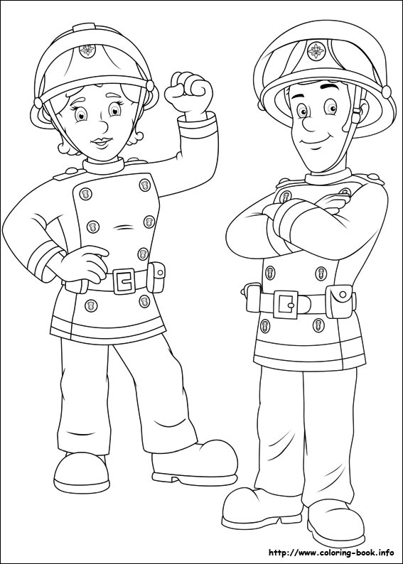 Free Coloring Pages Of Fireman Sam Fire Engine Fireman Sam Colouring Page