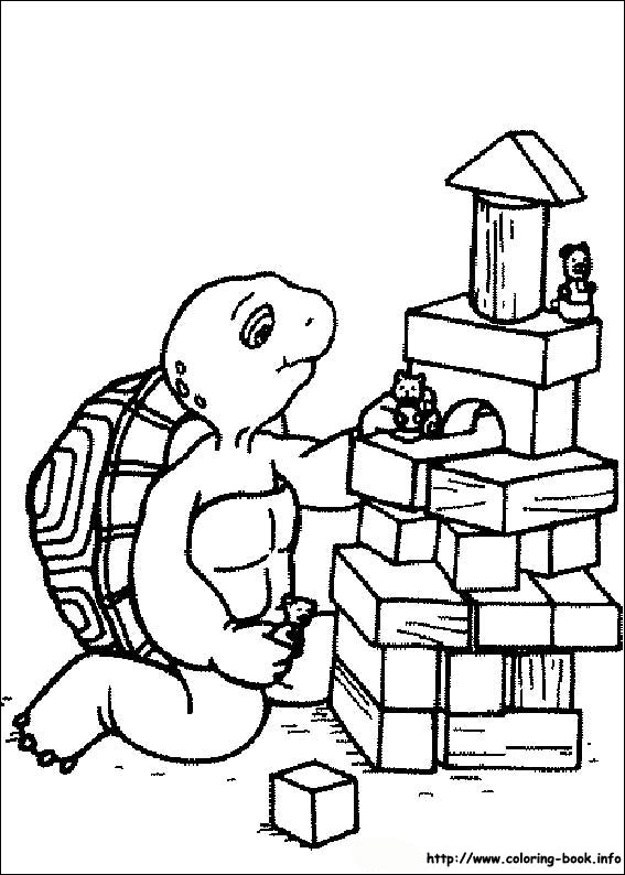 Colorful Franklin The Turtle Coloring Pages Vignette - Printable ...
