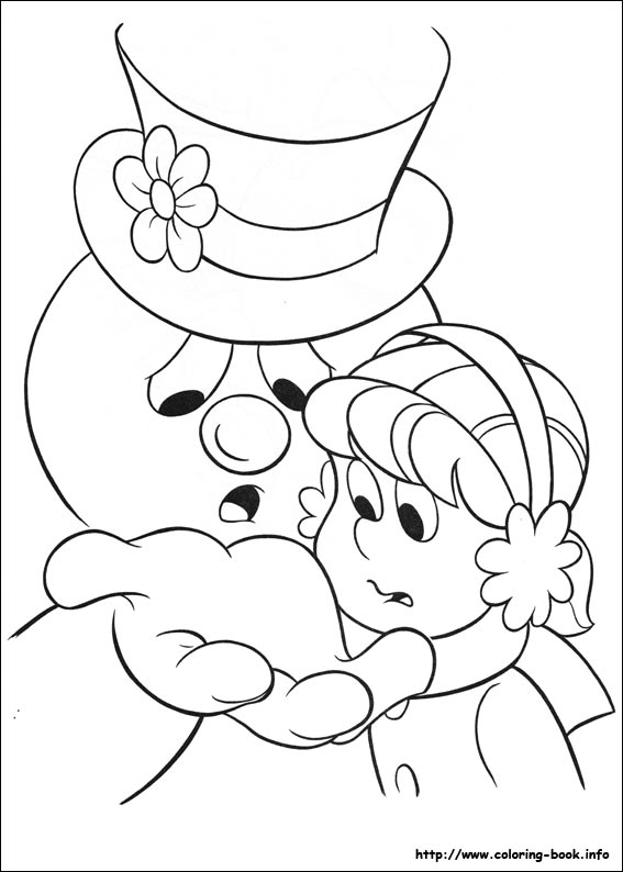 Frosty The Snowman Coloring Book