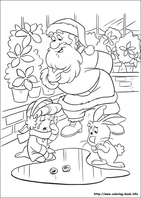 the snowman coloring picture