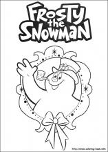Frosty the snowman coloring pages on ColoringBookinfo
