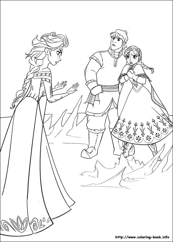 Frozen coloring pages on ColoringBookinfo