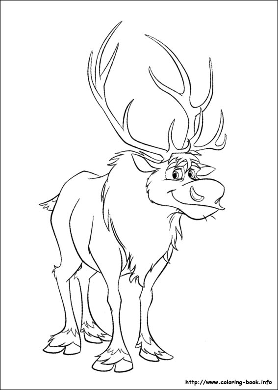 Sven3 Frozen Colouring Pages Click Here To Download