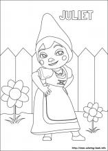 Gnomeo and Juliet coloring pages on ColoringBookinfo