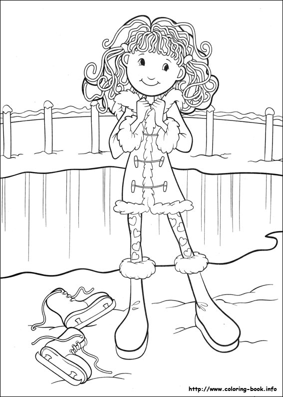 Girls coloring picture