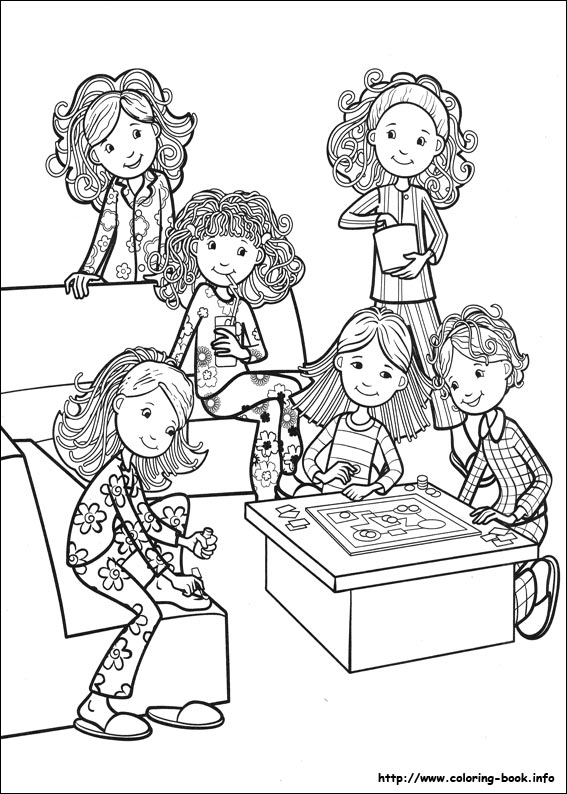 Groovy Girls coloring pages on ColoringBookinfo
