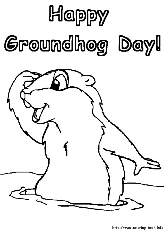Groundhog Day coloring pages on Coloring-Book.info