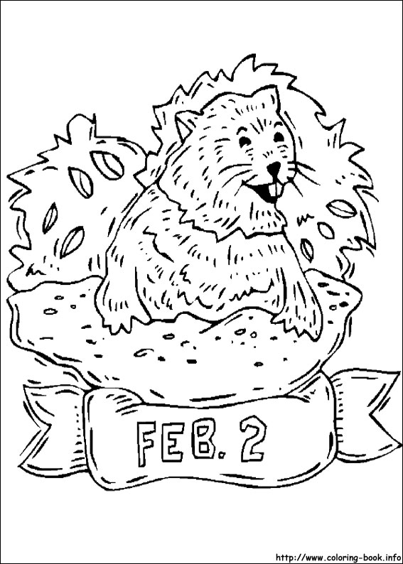 groundhog day coloring picture - Groundhog Day Coloring Pages