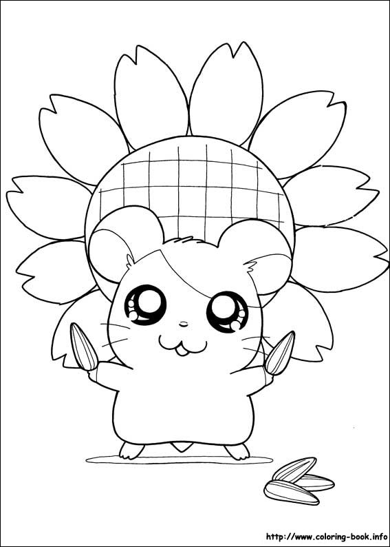 Hamtaro Coloring Picture Www Coloring Book Info