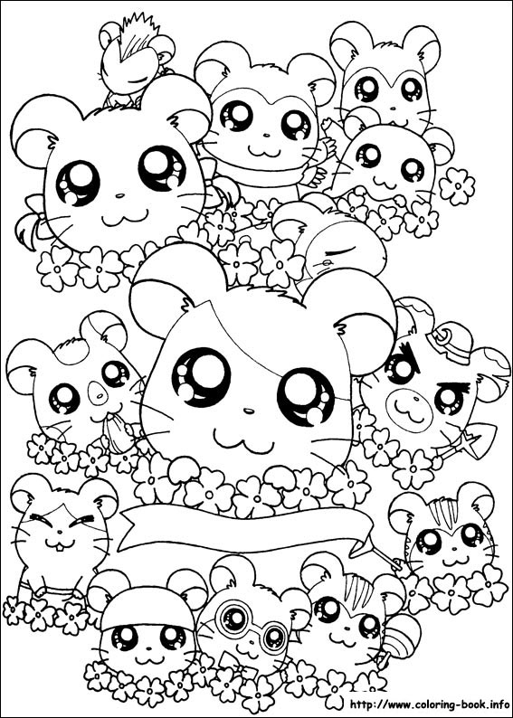 儿童卡通简笔画线描素材可爱小动物[组图]--跟