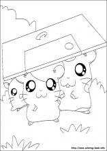 Hamtaro coloring pages on ColoringBookinfo