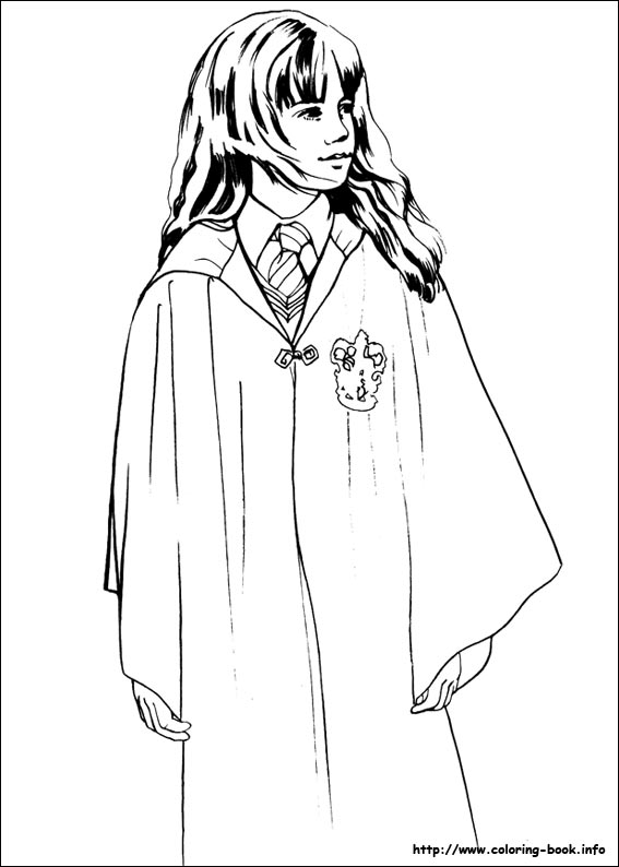 Colour By Number Harry Potter : Harry potter coloring pages on coloring book.info