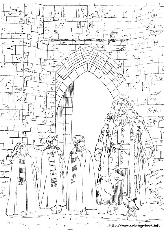 Harry Potter Coloring Pages On Book