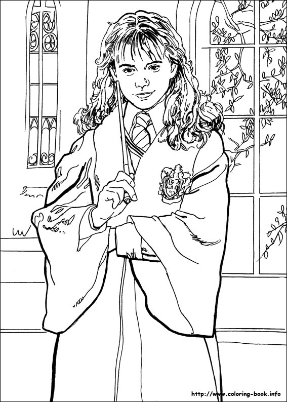 Harry Potter Coloring Pages To Print. Harry Potter coloring picture