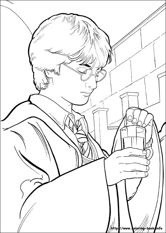 Harry Potter Coloring Pages On Coloring Bookinfo - Ginny-weasley-coloring-pages