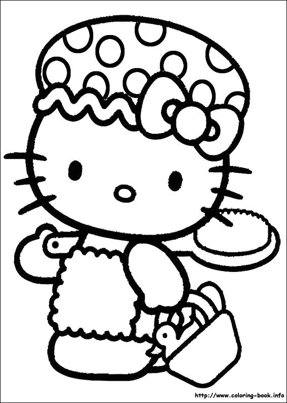 Hello Kitty Coloring Pages On Coloringbookinforhcoloringbookinfo: Hello Kitty House Coloring Pages At Baymontmadison.com