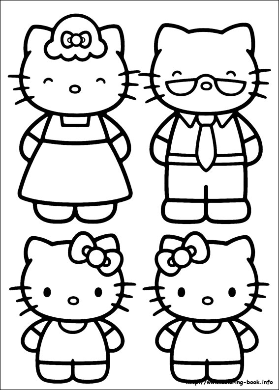 Hello Kitty coloring pages on ColoringBookinfo