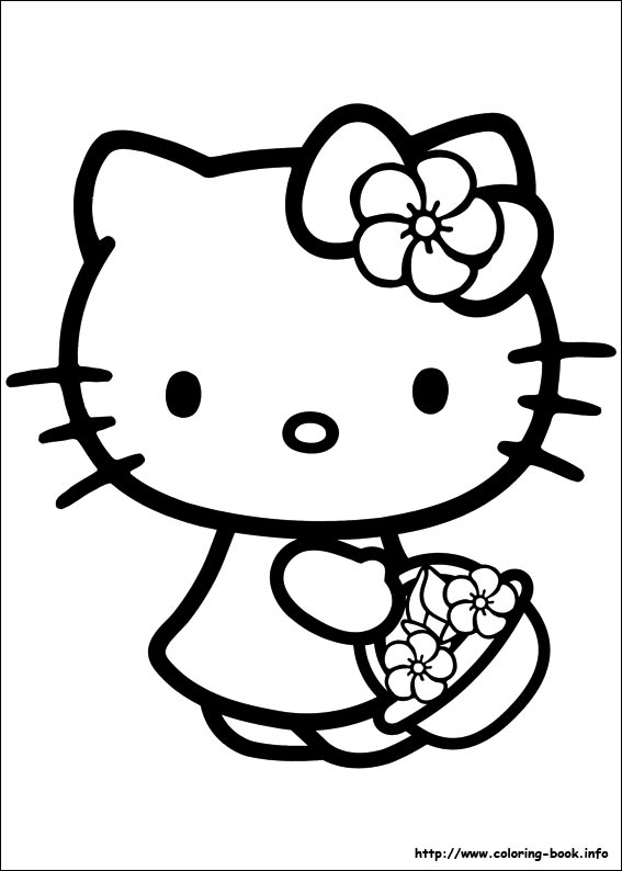 Coloring hello kitty page