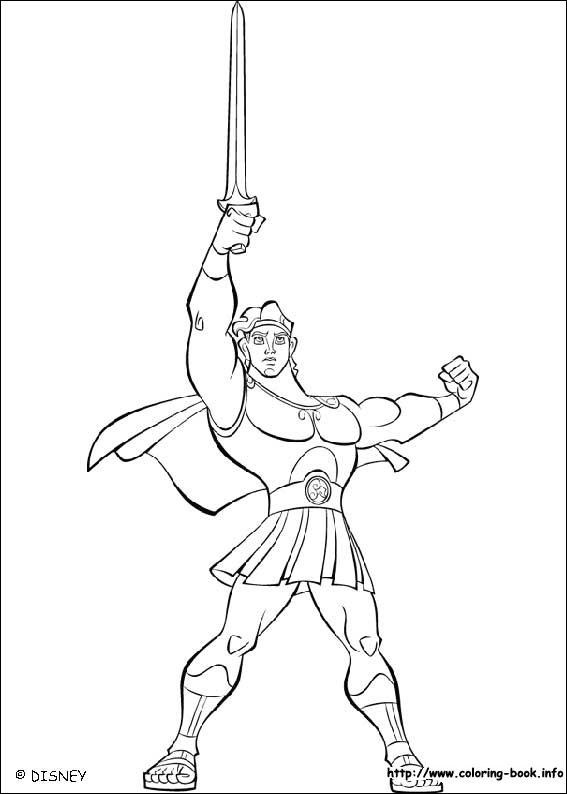 index coloring pages - Hercules Coloring Pages