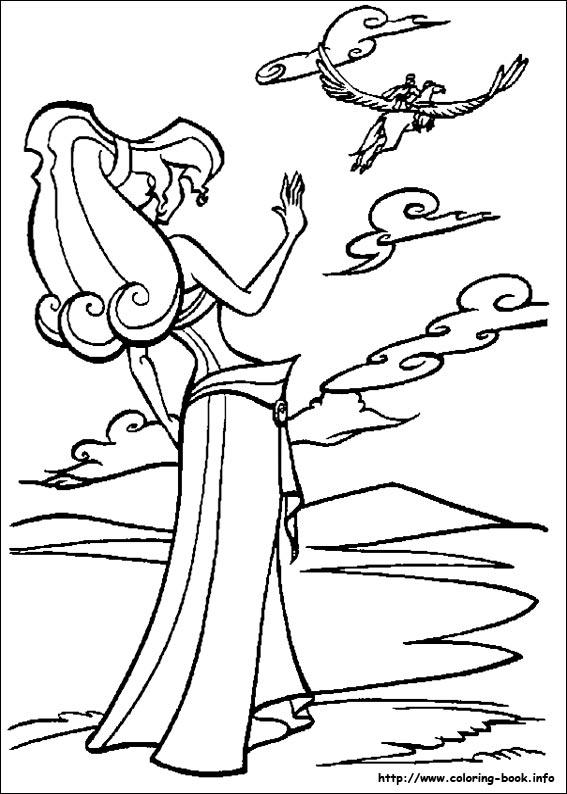 Hercules coloring picture