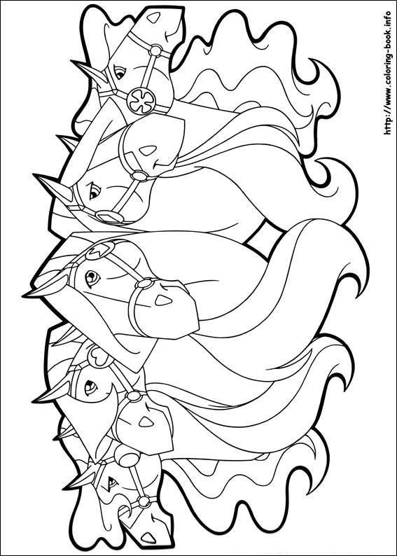 horseland coloring picture horseland coloring pages to print - Horseland Coloring Pages Print