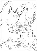 Horton coloring pages on Coloring Bookinfo