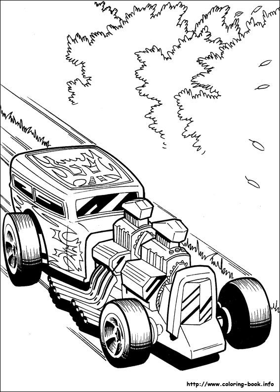 Hot Wheels coloring pages on Coloring-Book.info