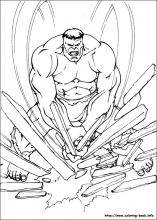Hulk coloring pages on Coloring Bookinfo