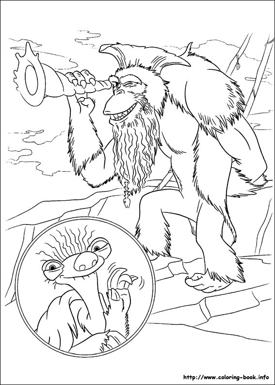 Ice Age Continental Drift Coloring Picture