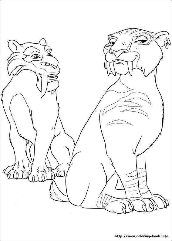 Ice Age Continental Drift coloring pages on Coloring Bookinfo