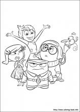 Inside Out Coloring Pages On Book