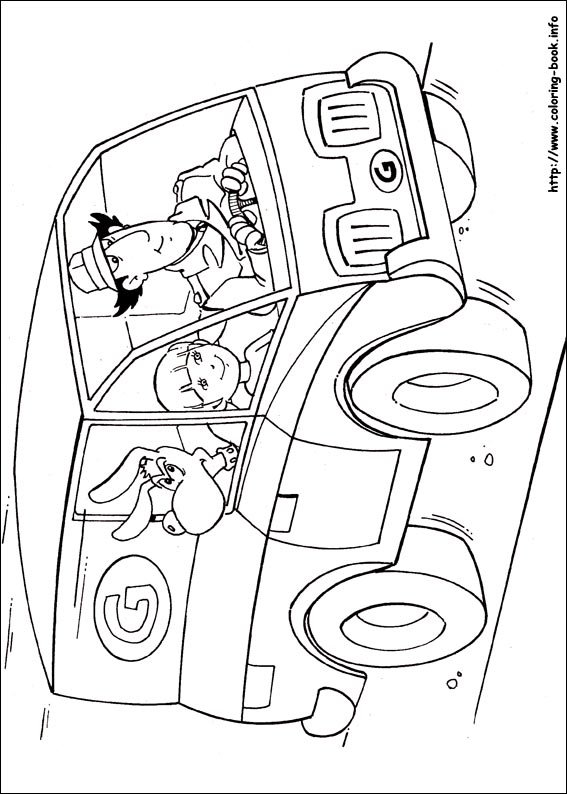 inspector gadget coloring pages on coloring book info