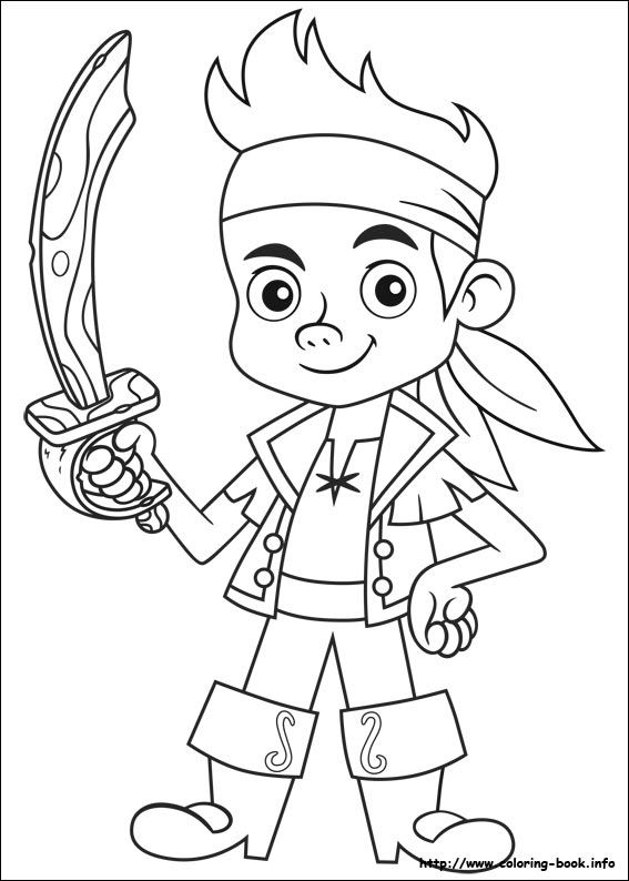 Jake The Pirate Coloring Pages