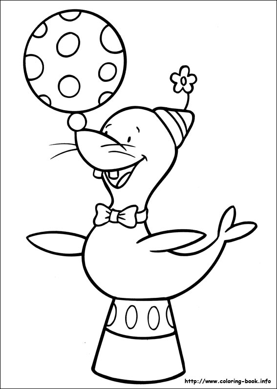 jojo circus coloring picture - Circus Coloring Pages