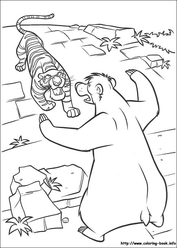 jungle book coloring pages book 2 coloring picture - Coloring Book Com 2