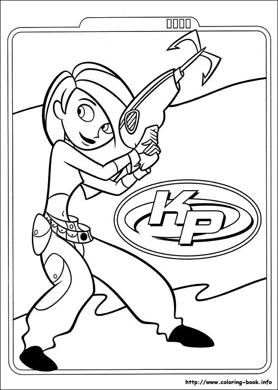 kim possible coloring picture