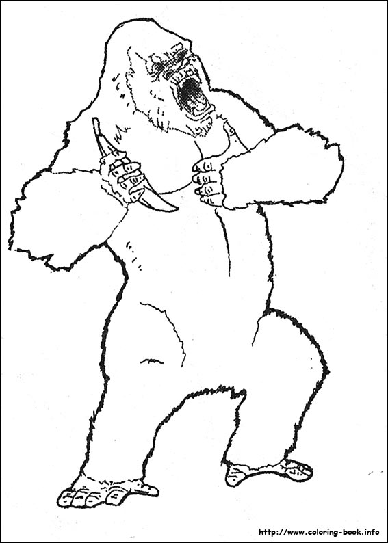 King Kong coloring pages on ColoringBookinfo