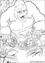 King Kong Coloring Pages On Book