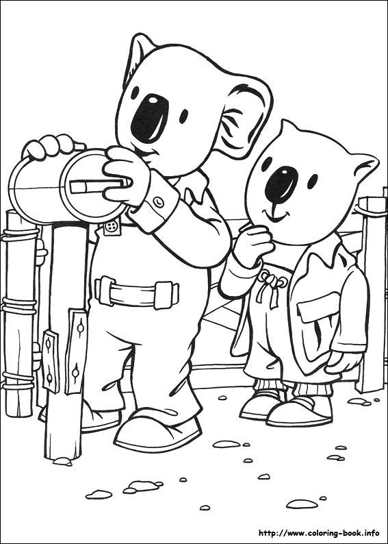 Koala Brothers coloring pages on Coloring Bookinfo