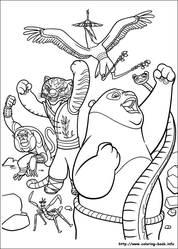 Kung Fu Panda 2 coloring pages on Coloring-Book.info