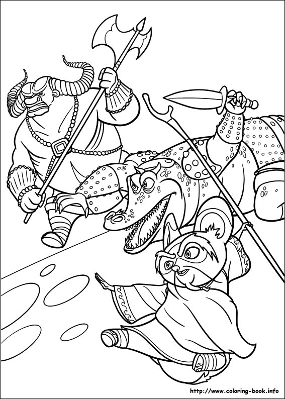 Kung fu panda 2 coloring picture
