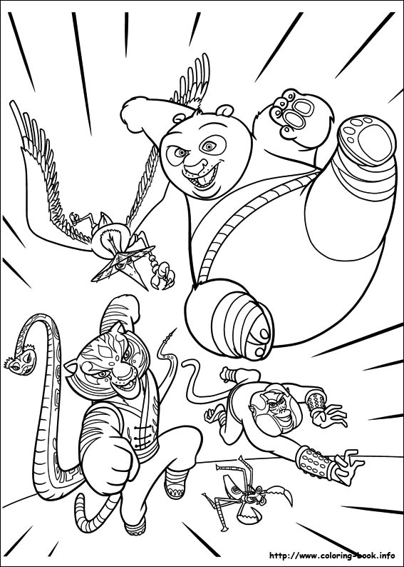 Kung Fu Panda 2 Coloring Pages On Book