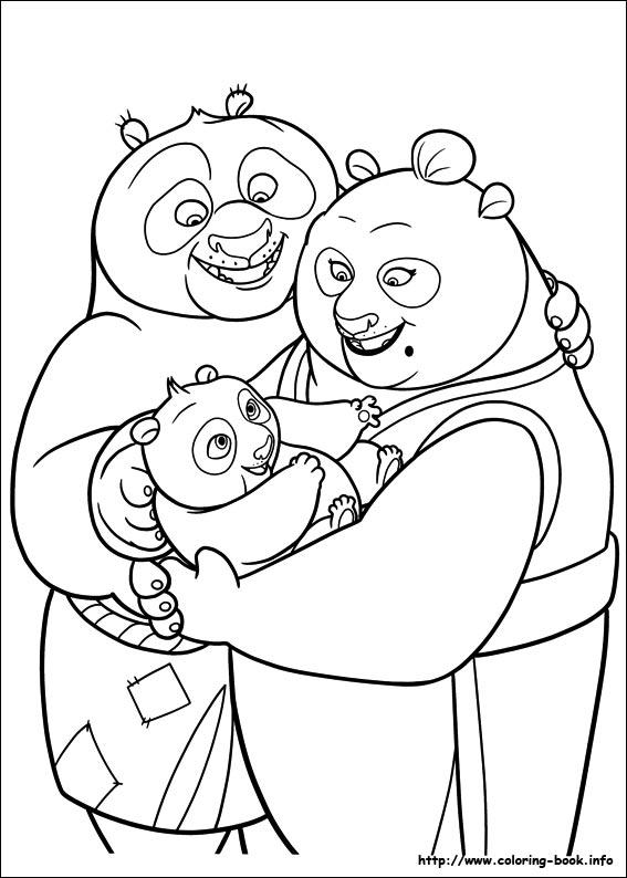 Kung Fu Panda Colouring Pages