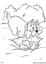 Lady And The Tramp Coloring Pages On Coloring Book Info