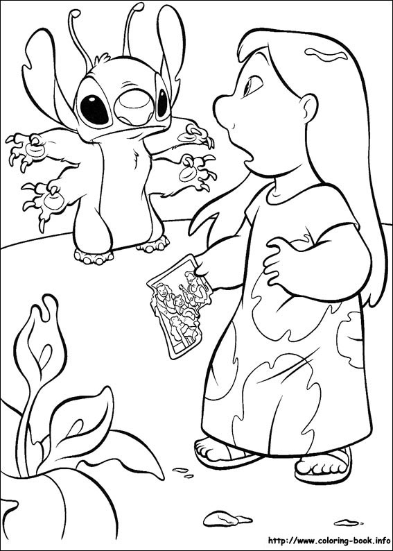 Lilo and Stitch coloring pages on Coloring-Book.info