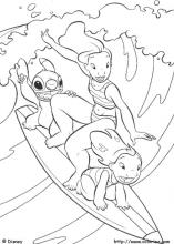 Lilo And Stitch Coloring Pages On Book